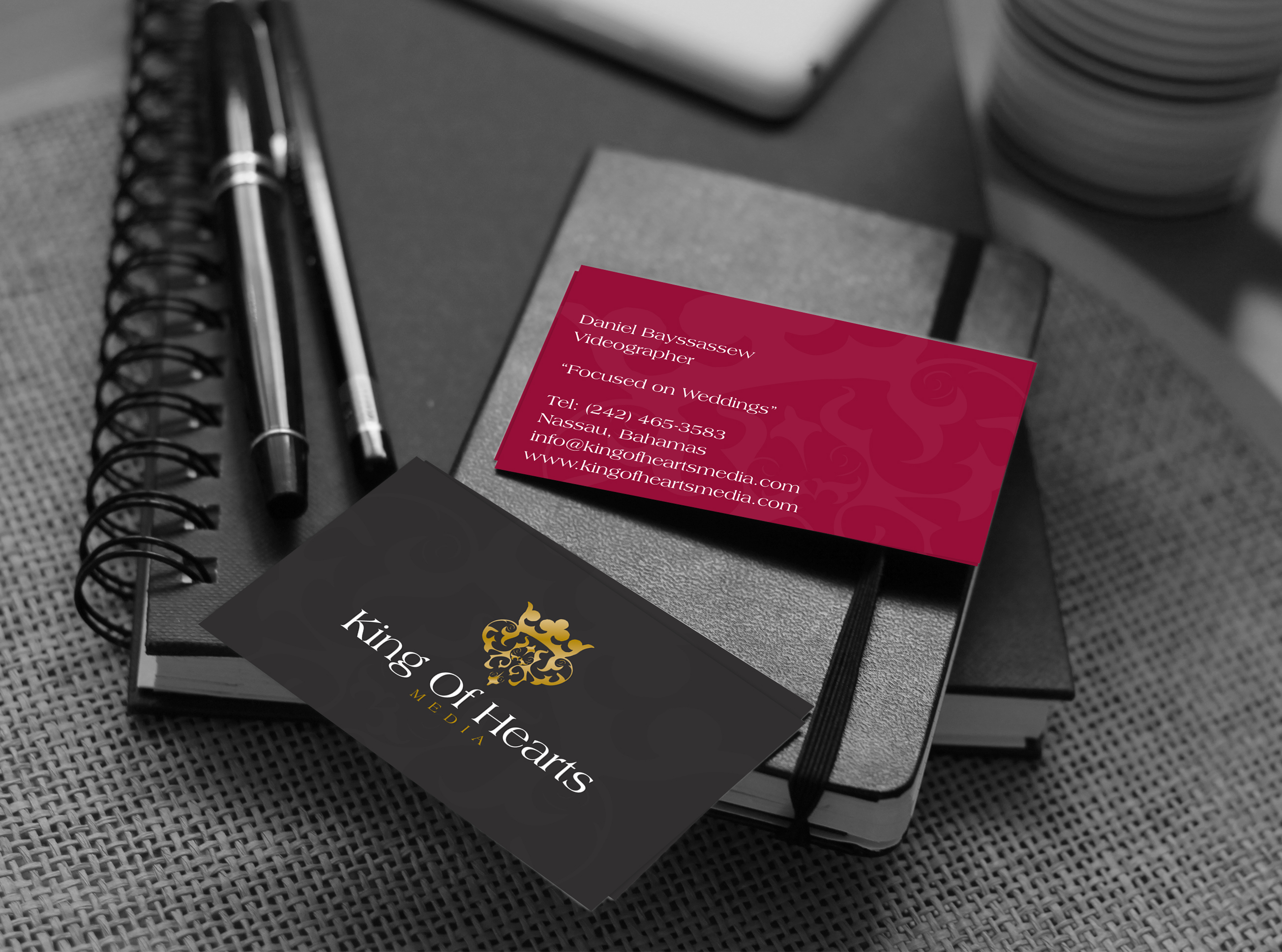 King of hearts business card pink studios king of hearts business card colourmoves